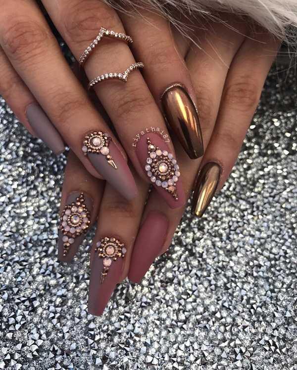 chrome nail polish gel