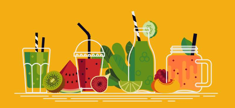 Juicing For Health. Freshly squeezed vegetable and fruit juice blends are nourishing, flavorful and convenient for sipping at your leisure.