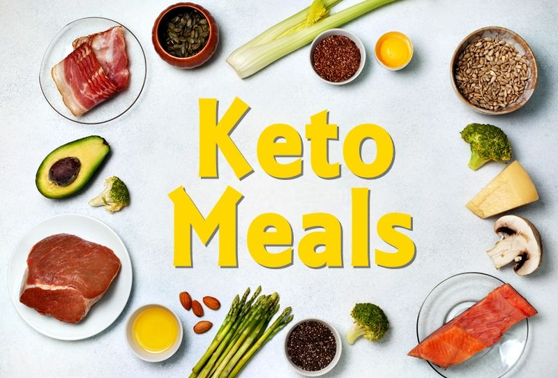Keto meals. Remember: the keto diet is all about protein moderation.