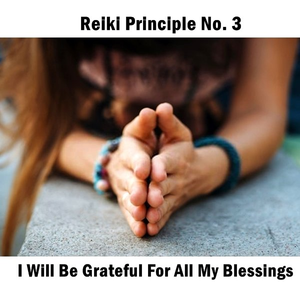Reiki principles. Blessings. A key Reiki principle is to be grateful and thankful for our blessings daily.