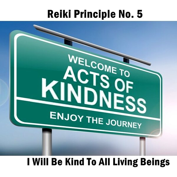 Reiki principles. Kindness. By really embodying this Reiki principle, you can give the gift of kindness to people daily.